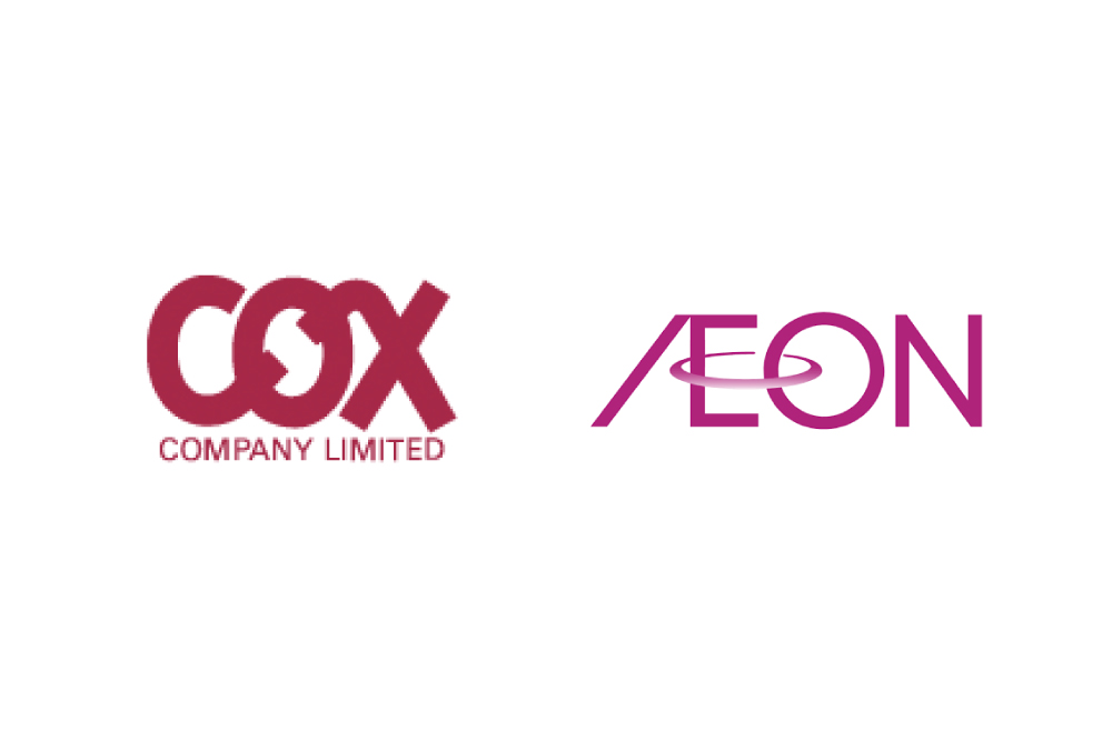 COXとAEONのロゴ