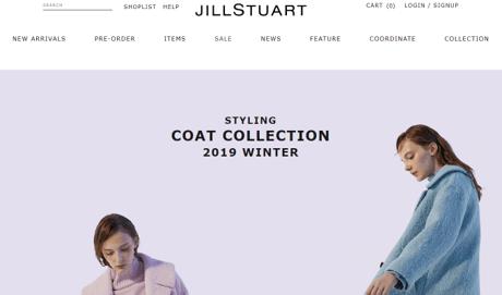 JILLSTUARTのECサイトページ